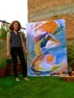 Pintura final i l'artista